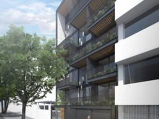 ML60: Condominios de estilo  por NEGRO arquitectura, S.A. de C.V.,