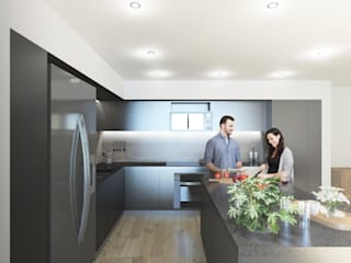 ML60: Cocinas equipadas de estilo  por NEGRO arquitectura, S.A. de C.V.,