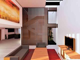 Casa Yucca : Salas de estilo  por Árbol Arquitectura,