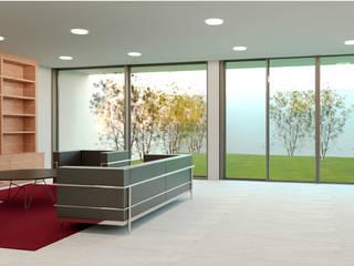Casa Yucca : Estudios y oficinas de estilo  por Árbol Arquitectura,