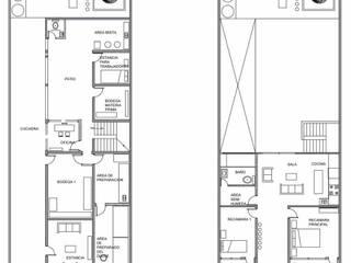 Casa para artesanos del dulce (vivienda progresiva): Casas de estilo  por Árbol Arquitectura,