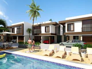 Conjunto residencial Trapiche Houses / Ibagué - Colombia : Conjunto residencial de estilo  por Taller 3M Arquitectura & Construcción