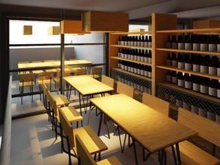 Cervecería  : Cavas de estilo  por Árbol Arquitectura,
