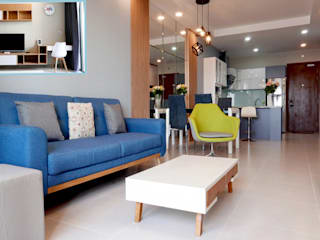 Thiết kế thi công nội thất căn hộ chung cư Goldview Quận 4:   by Công ty TNHH Nội Thất Sense Home