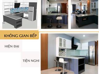 Thiết kế thi công nội thất căn hộ chung cư Goldview Quận 4:  Tủ bếp by Công ty TNHH Nội Thất Sense Home