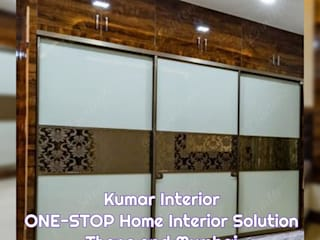Rustomjee Azziano guest bedroom design by kumar interior thane:   by KUMAR INTERIOR THANE
