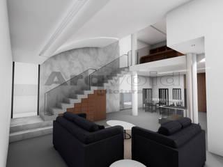 Moradia unifamiliar em Vila do Conde Salas de estar modernas por Arqvoid - Arquitetura e Serviços, Lda. Moderno