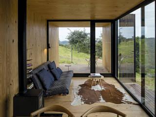 CASAS ESTRUCTURA DE FIERRO: Livings de estilo  por Casas Green Planet