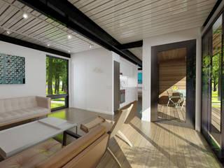 CASAS ESTRUCTURA DE FIERRO Casas Green Planet Comedores de estilo moderno
