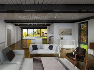 CASAS ESTRUCTURA DE FIERRO Casas Green Planet Livings de estilo moderno