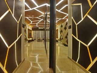 Island City Modern corridor, hallway & stairs by The Design Company India Modern