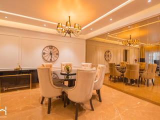 Luxurious 3BHK apartment, Kalyani Nagar, Pune Modern dining room by H-Design Modern