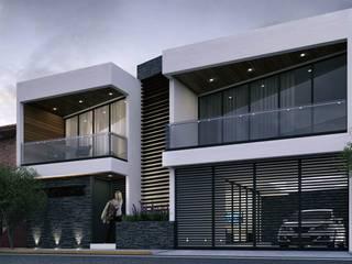 Casa EF de 2M arquitectos Minimalista