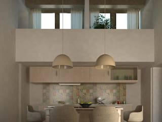 Ing. Massimiliano Lusetti Mediterranean style dining room Wood Beige