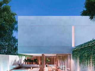 CASA CUBO: Villas de estilo  por Obed Clemente Arquitectos,