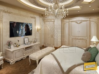 ​classic Bedroom Piece Of A Villa Project at Saudi Arabia:  غرفة نوم تنفيذ Archeffect