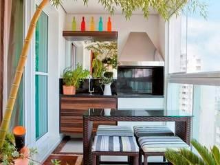 Thiết kế trang trí ban công chung cư:  Biệt thự by CÔNG TY CỔ PHẦN THƯƠNG MẠI CẢNH QUAN XANH ECONY