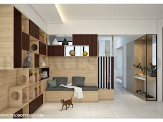 Area Pintu Masuk Inspace Studio Koridor & Tangga Modern