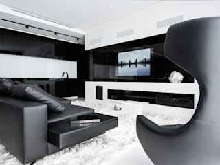 Modern living room by Geometrix Design Modern