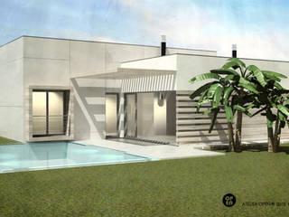 ATELIER OPEN ® - Arquitetura e Engenharia Gartenpool Holzspanplatte Weiß