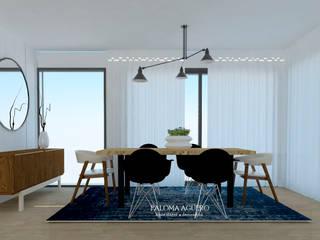 Sala nórdica minimalista: Salas de jantar  por Paloma Agüero Design,Escandinavo