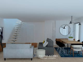 Sala nórdica minimalista: Salas de estar  por Paloma Agüero Design,Escandinavo