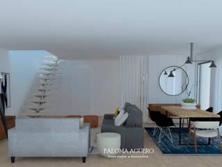 Salones de estilo escandinavo de Paloma Agüero Design Escandinavo