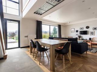 Загородный дом в стиле Loft Гостиная в стиле лофт от Studio architecture and design LAD.Студия архитектуры и дизайна ЛАД . Лофт