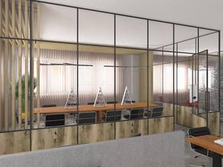 Minimalst style study/office by Glancing EYE - Asesoramiento y decoración en diseños 3D Minimalist