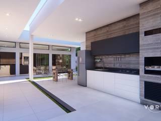 Área Gourmet Integrada : Cozinhas  por Vortice Arquitetura