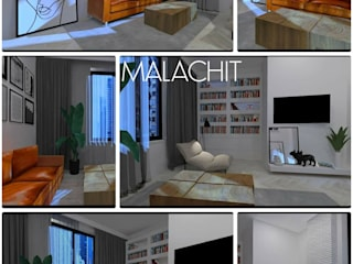 MALACHIT wnętrza - salon od MALACHIT wnętrza
