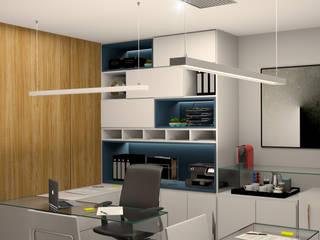 Sala da diretoria: Escritórios  por Espaço Arquitetural | Arquitetos em Natal