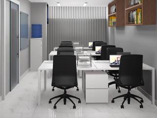 Sala dos contadores: Escritórios  por Espaço Arquitetural | Arquitetos em Natal