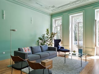 Prédio Marquês - Histórias de Casa Salas de estar minimalistas por Alessandro Guimaraes Photography Minimalista