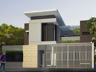 rumah di pasir jaya daun architect Rumah Modern