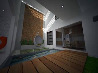 rumah di pasir jaya daun architect Taman Modern