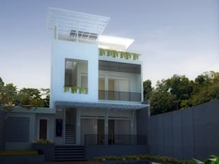 rumah vila di Parompong daun architect