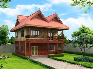 โครงการก่อสร้าง บ้านทรงเรือนไทย โดย บริษัท พี นัมเบอร์วัน ดีไซน์ แอนด์ คอนสตรัคชั่น จำกัด ทรอปิคอล