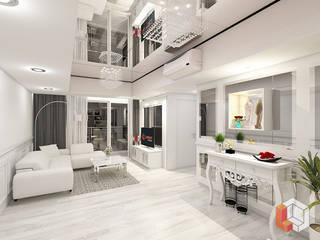 Apartemen Kelapa Gading Ruang Keluarga Modern Oleh Lavrenti Smart Interior Modern