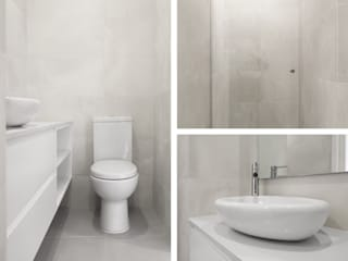 Minimalist style bathroom by PortoHistórica Construções SA Minimalist
