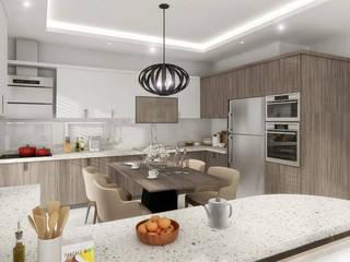 Mimayris Proje ve Yapı Ltd. Şti. – Bağlıca'da Mutfak Tasarımı: modern tarz , Modern