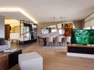 Şekeroğlu Residential Modern Oturma Odası Pebbledesign / Çakıltașları Mimarlık Tasarım Modern