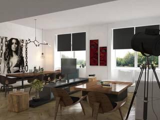 Akün Residence Modern Oturma Odası Pebbledesign / Çakıltașları Mimarlık Tasarım Modern