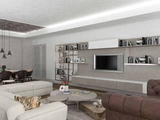 Yaman Residential Modern Oturma Odası Pebbledesign / Çakıltașları Mimarlık Tasarım Modern