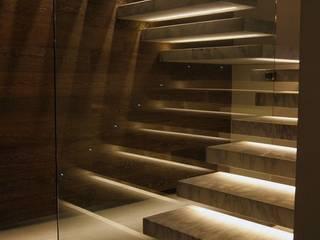 Gökay merdiven dekorasyon   – CAM BASAMAK LED AYDINLATMA :  tarz