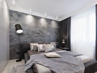 Mieszkanie minimalisty Minimalistyczna sypialnia od Lew Architekci & Archideck Minimalistyczny