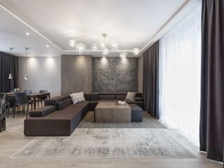 Mieszkanie minimalisty od Lew Architekci & Archideck Minimalistyczny