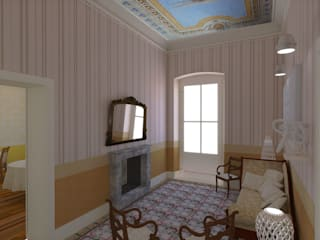 Ing. Massimiliano Lusetti Classic style corridor, hallway and stairs