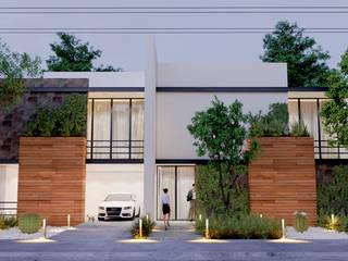 CASA EN CANCUN: Casas unifamiliares de estilo  por ELOARQ,