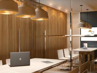 Sala de reuniões: Escritórios  por Espaço Arquitetural | Arquitetos em Natal